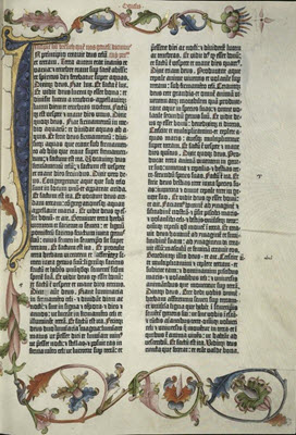Facsimile of the 1454 Gutenberg Bible