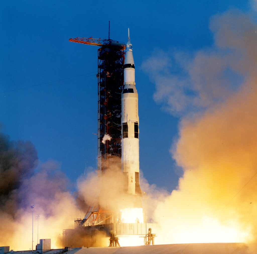 Apollo 13 lift off in 1970(Credit: Wikicommons)