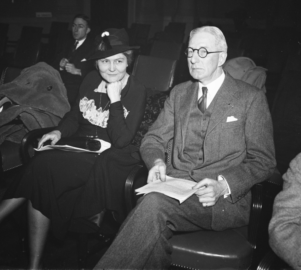 Josephine Roche as Assistant Secretary of the Treasury with Surgeon General H.S. Cumming circa 1935(credit: Library of Congress)