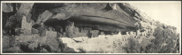 image of Cliff Palace at Mesa Verde circa 1890