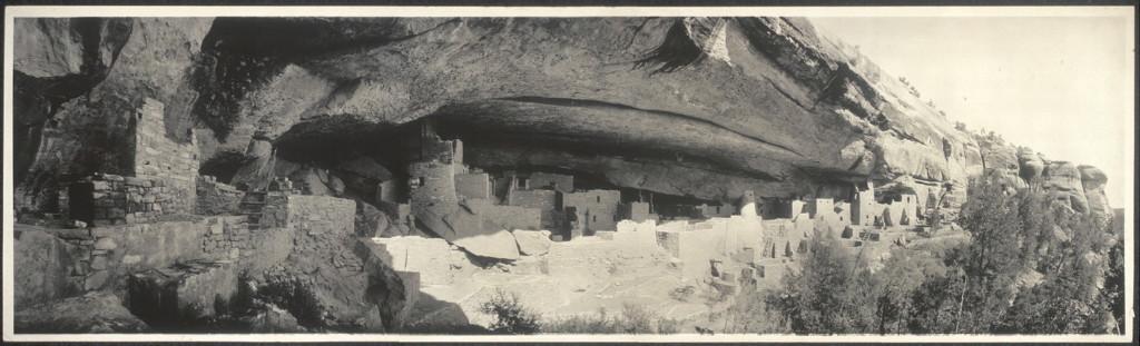 image of Cliff Palace at Mesa Verde circa 1890