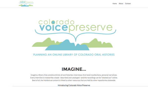 voice preserve website homepage
