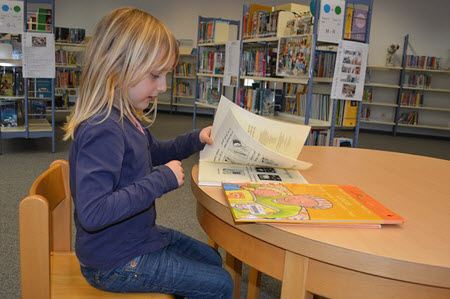 Child at library