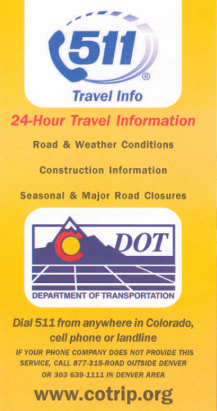 Dial 511 for Road Conditions
