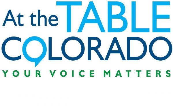 Logo reading At the Table Colorado: Your Voice Matters