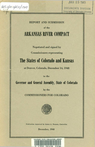 Time Machine Tuesday: The Arkansas River Compact