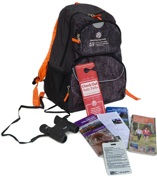 Check Out State Parks Back Pack and Contents