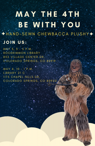 May the fourth be with you. Hand-sewn Chewbacca Plushy
