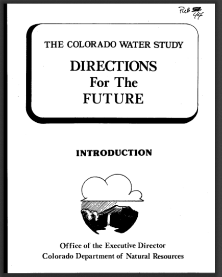 Time Machine Tuesday: Colorado Water Study 1978