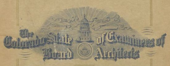 Time Machine Tuesday: The Colorado State Board of Examiners of Architects