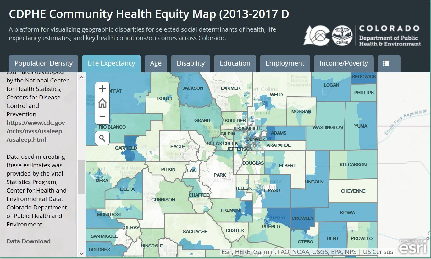 Community Health Equity Map