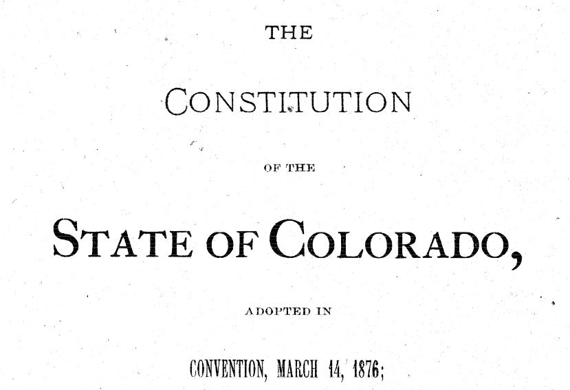 Time Machine Tuesday: History of Term Limits in Colorado