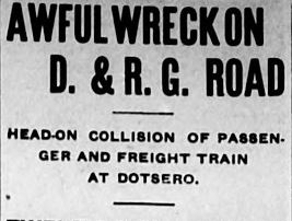 Time Machine Tuesday: The Dotsero Train Wreck