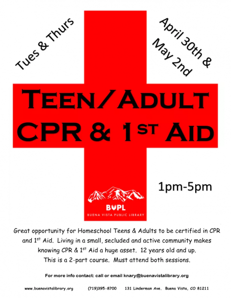 Teen/Adult CPR and 1st Aid