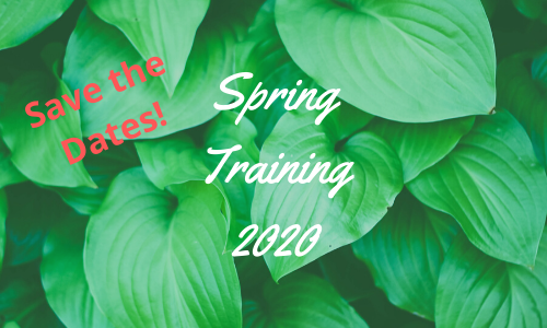 Save the dates for 2020 Spring Training