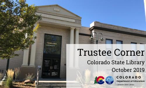 Trustee Corner – October 2019