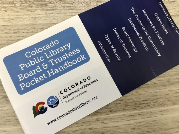 Photo of Colorado Public Library Board & Trustess Pocket Handbook