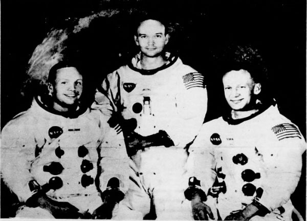 Crew of Apollo 11: Neil Armstrong, Buzz Aldrin, and Michael Collins