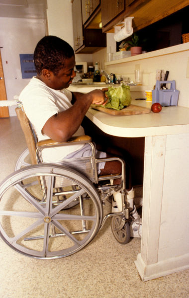 wheelchair accessible kitchen counter