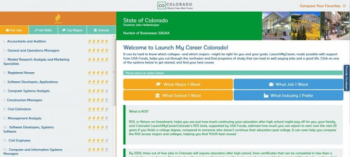 New College and Career Website