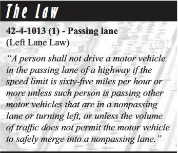 Colorado's Left Lane Law