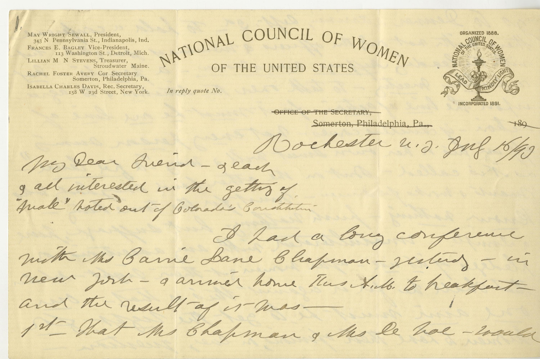 Transcribing Women's Suffrage in Colorado